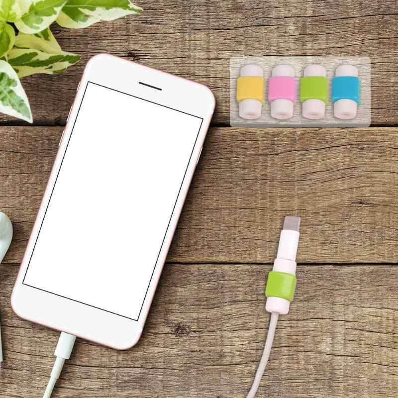 Protector de Cable USB para auriculares, cubierta de Cable de Protección de Cable de 8 pines, funda protectora de carga para datos de Color aleatorio, 1 Uds.