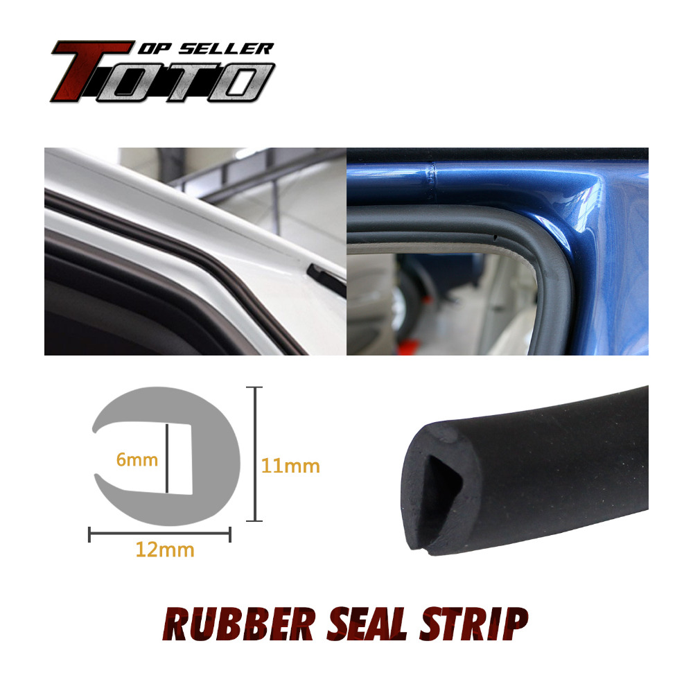 "car window rubber seal	  12x11mm Black 315"" 800cm 26.2ft Car Trailer Noise Control Door ..."