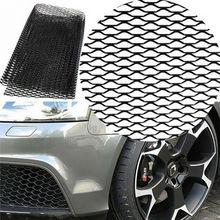 Универсальная Серебряная сетка для переднего бампера автомобиля 40x13 дюймов, алюминиевая решетка для кузова автомобиля, сетчатая решетка для гриля 100 × 33 см