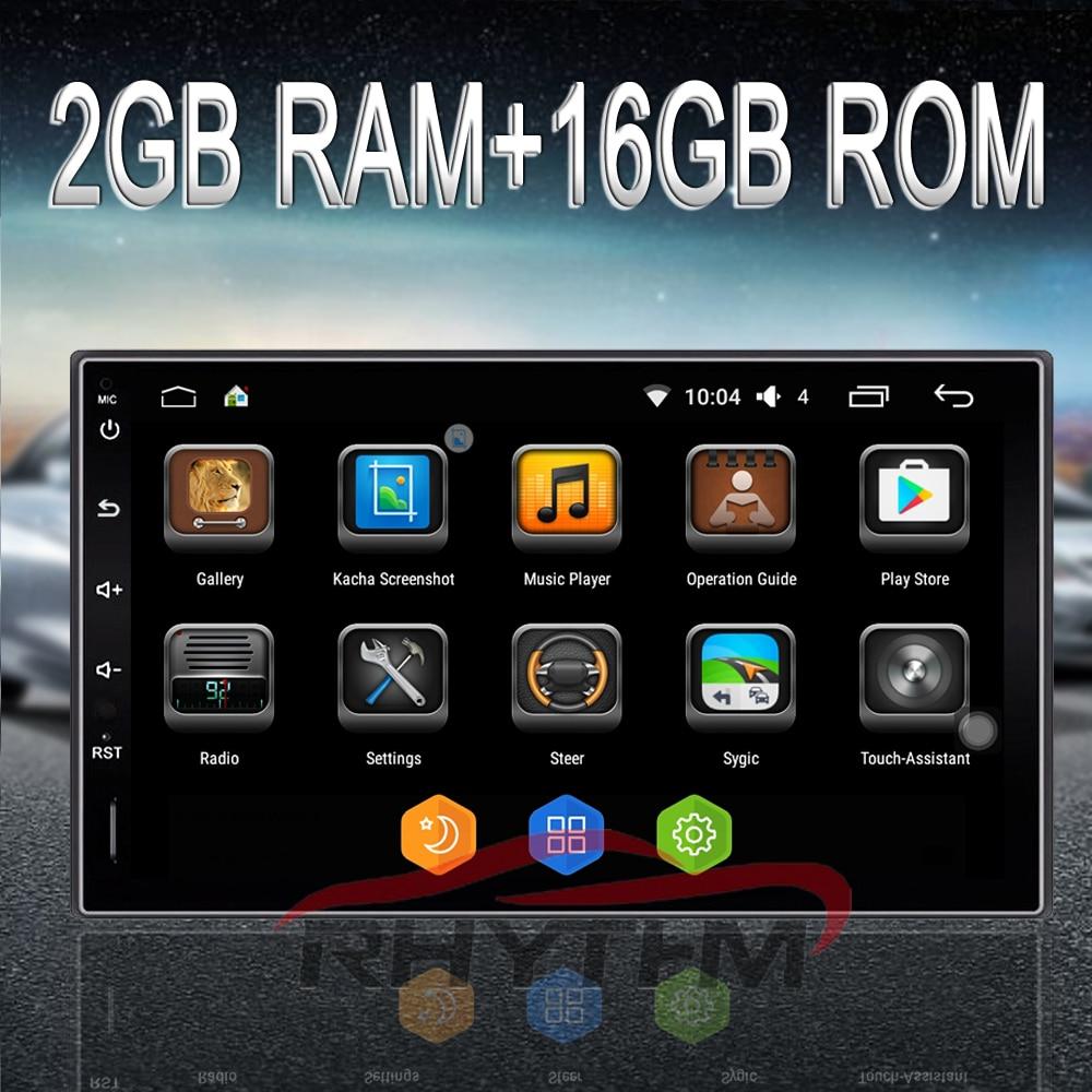 Rhythm 2 Din Android 6 0 Car Radio Auto Car Stereo Multimedia Player Universal GPS Navigation