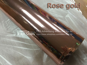 Image 5 - The newest High stretchable mirror rose gold Chrome Mirror flexible Vinyl Wrap Sheet Roll Film Car Sticker Decal Sheet