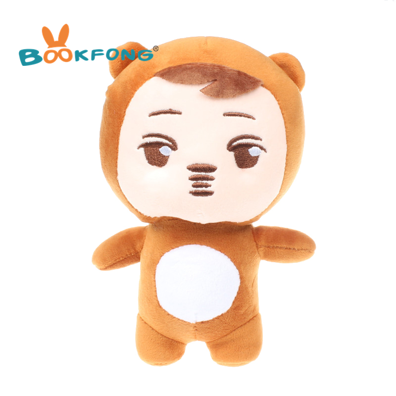 Hot Sale Korea Kpop EXO Kim Jong In Kai 8 Bear Plush Toy Stuffed Doll EXO Fans Gift Birthday Gifts 21CM 1 400 jinair 777 200er hogan korea kim aircraft model