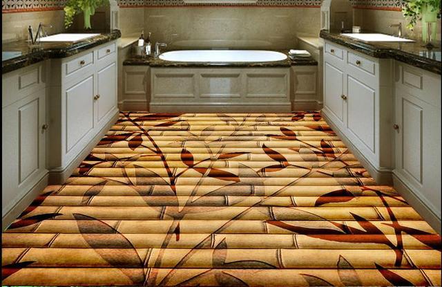 Zelfklevende Bamboe Vloer : Vinyl pvc laminaat zelfklevende stuks qm bamboe mat te