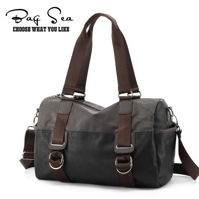 2016 Novos sacos de viagem dos homens de Negócios dos homens do vintage bolsa de couro pu mulheres messenger bags malas de viagem duffle bag bolso grande hombre