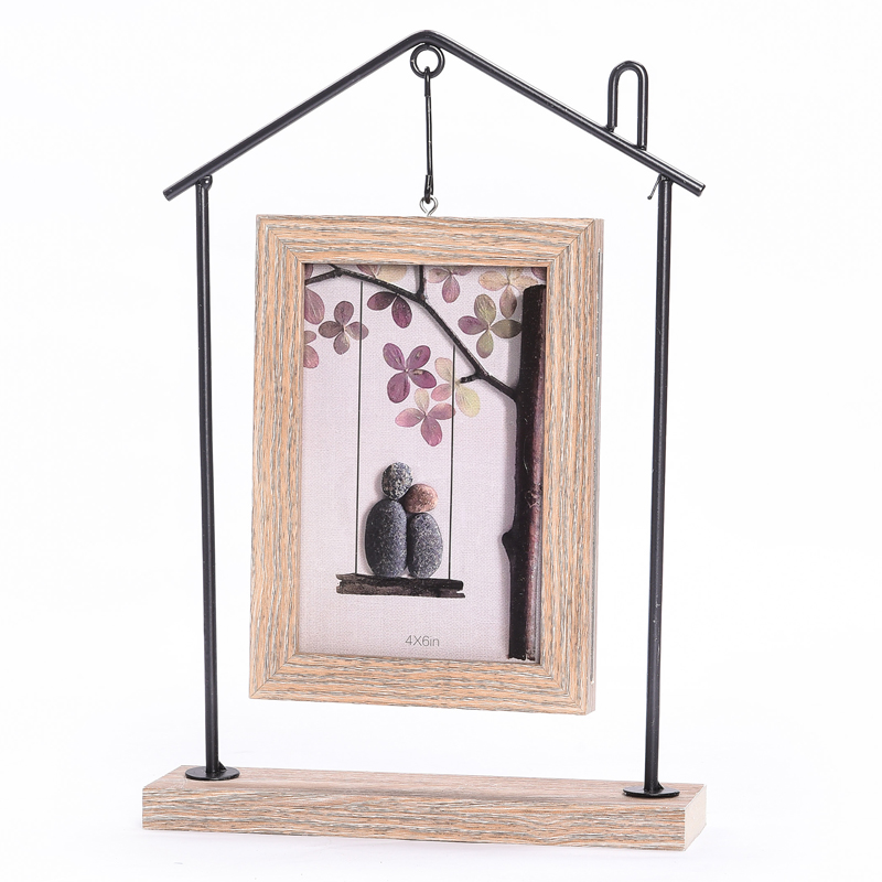Household Creative Wooden Hanging Double Sided Photo Frame ...