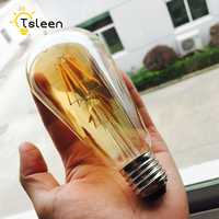 Bombillas de luz LED Vintage para el hogar, 4 unidades/lote, COB E27, bombilla de filamento Led, 220V, ST64