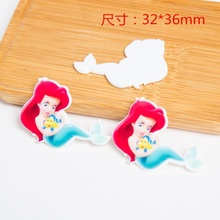 Resin Mermaid Princess Charms For SLIME Rubber Band Hairpin Brooch Phone Decoration Princess Charms Jewelry princess poppy mermaid princess