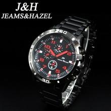 relogio masculino JEAMS&HAZEL Luxury Full Stainless Steel Analog Display Date Men's Quartz Watch Business Watch Men Watch 1602