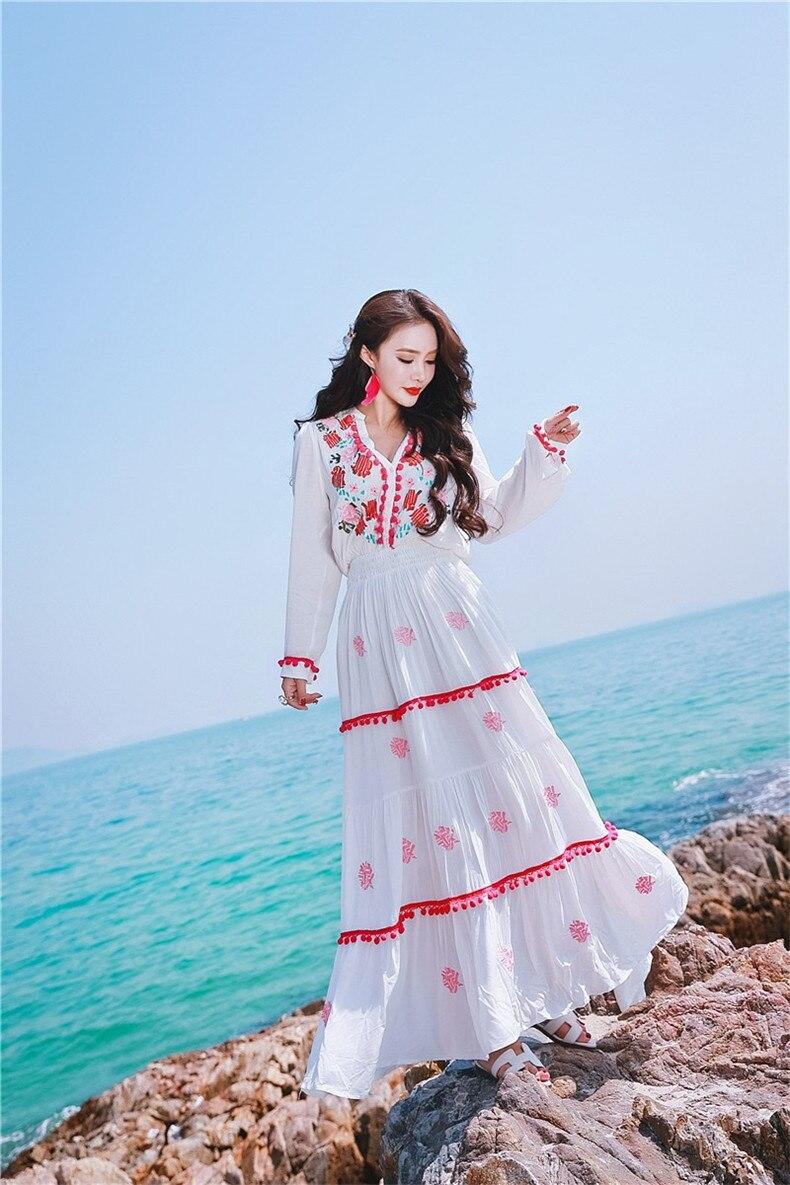 D'été Femmes Explosions Correspondant Robe Floral Loisirs Occasionnelle Beige Robes Qualité 2018 Broderie Haute Pw8gxqS