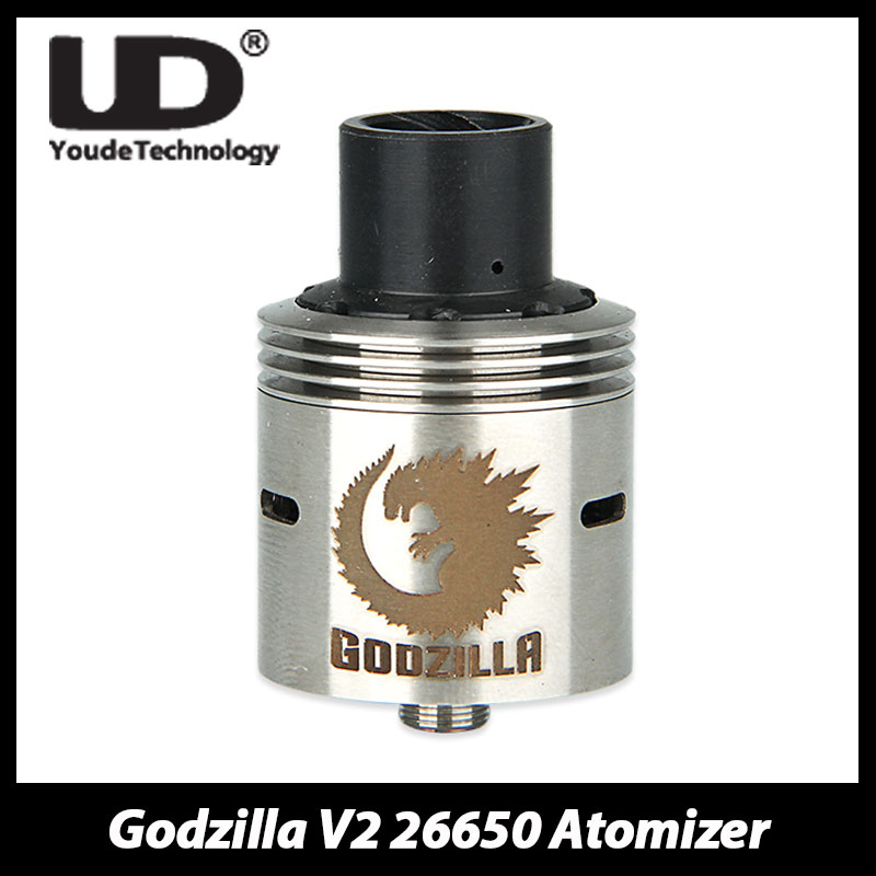 Original UD Godzilla V2 26650 Rebuildable Dripping Atomizer Vape RDA Tank Atomizer by 304 Food Grade