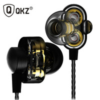 Earphone Fone De Ouvido QKZ DM8 Auriculares Audifonos Mini Original Hybrid Dual Dynamic Driver In Ear