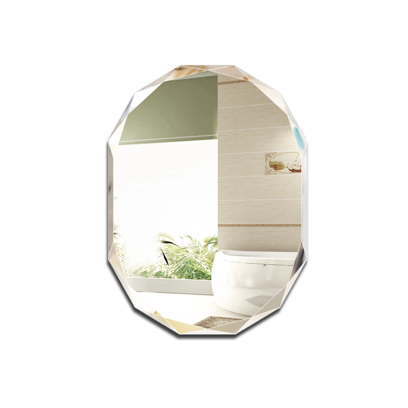 Simple frameless punch-free bathroom mirror wall-mounted lager bathroom toilet makeup dressing cosmetics mirror mx12281910