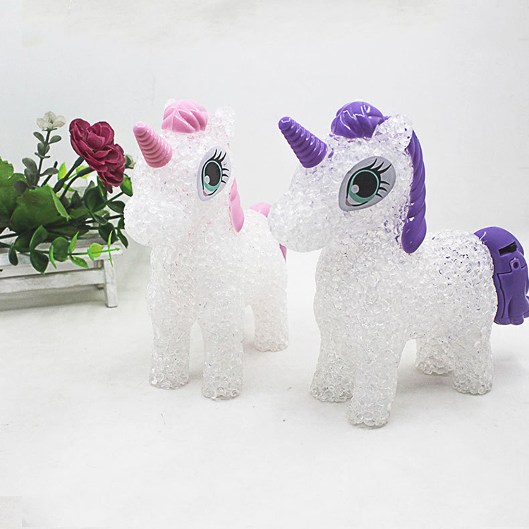 Cartoon unicorn LED Night Light Lighted Toys Colorful Changing table lamp 7
