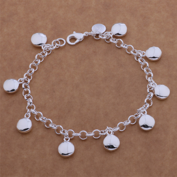 AH077 Hot 925 sterling gelang perak, 925 sterling silver fashion perhiasan kacang / ajtajbaa axvajpca