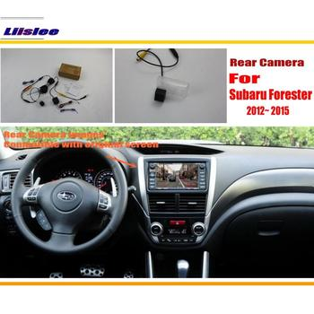 Liislee Car Rear View Camera / Back Up Reverse Camera Sets For Subaru Forester 2012~2015 / RCA & Original Screen Compatible for honda civic fb exi 2011 2016 car back up reverse camera car rear view camera sets rca