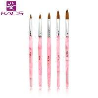 HOTSALE 5pcs SET 2 4 6 8 10 Kolinsky Sable Brush Acrylic Nail Art Builder Brush
