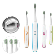 Latest USB Rechargeable Electric Toothbrush Sound Vibration Waterproof Sonic Electric Tooth Brush Get 4 Heads Teeth Brush
