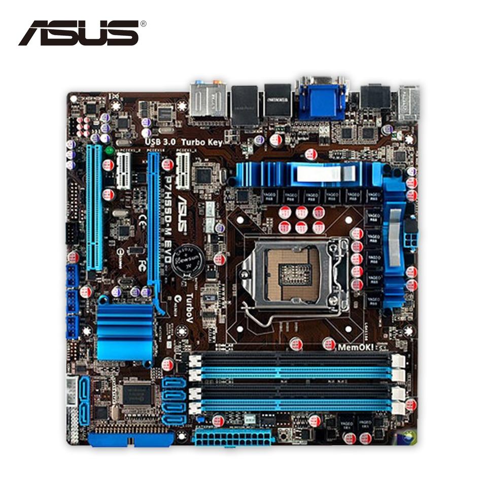 For P7H55D-M EVO Original Used Desktop Motherboard For Intel H55 Socket LGA 1156 For i3 i5 i7 DDR3 16G USB3.0 uATX On Sale