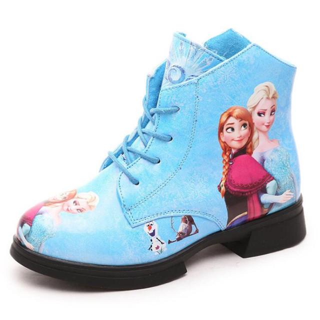 NUEVA Venta Caliente 2016 de Otoño Elsa Anna niños Botas Para la Nieve Niña Botas de Princesa de Los Niños Zapatos de los niños Botas Calientes Zapatos Martin