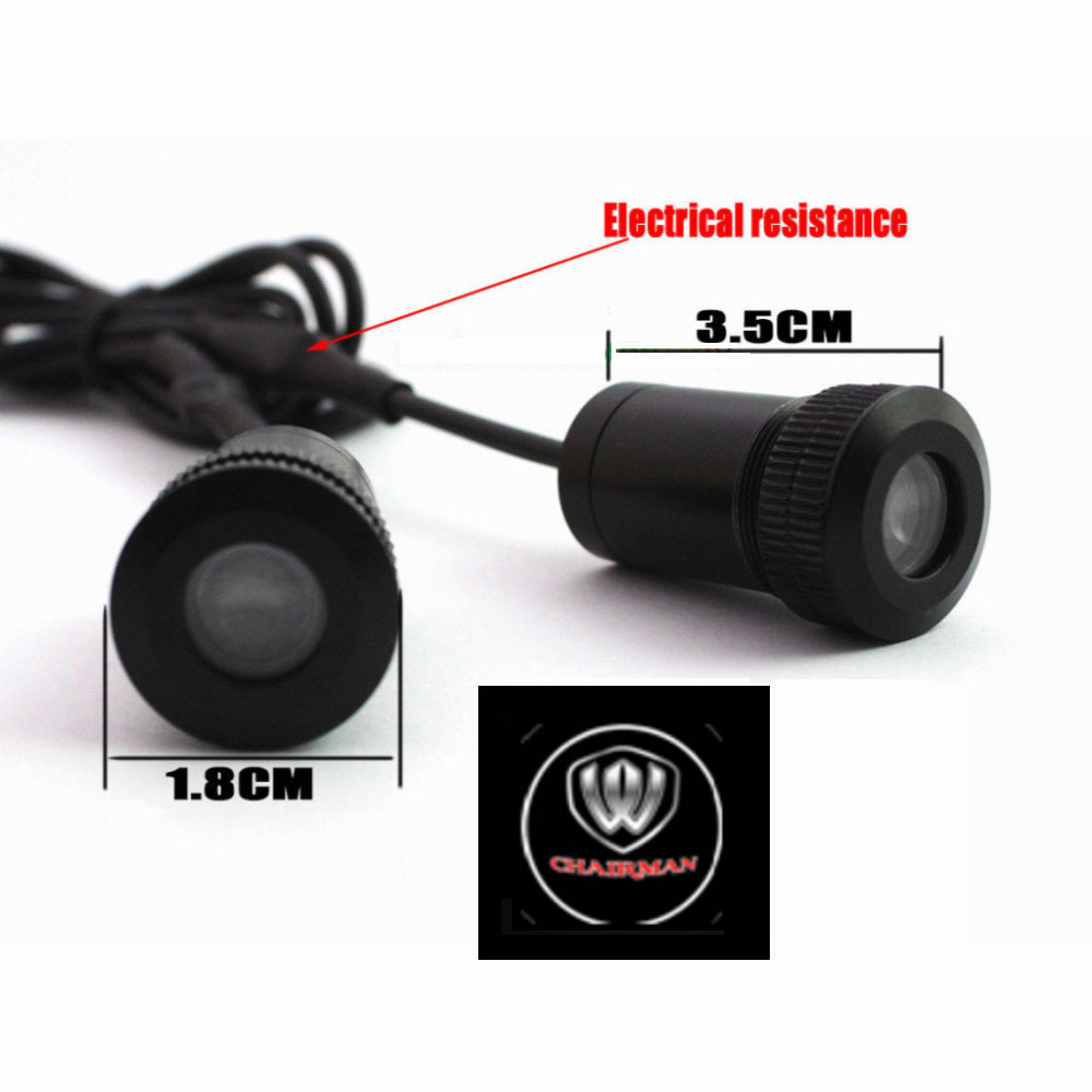 2PCs LED Car door welcome light courtesy led car laser projector Logo Ghost Shadow Light For chairman light