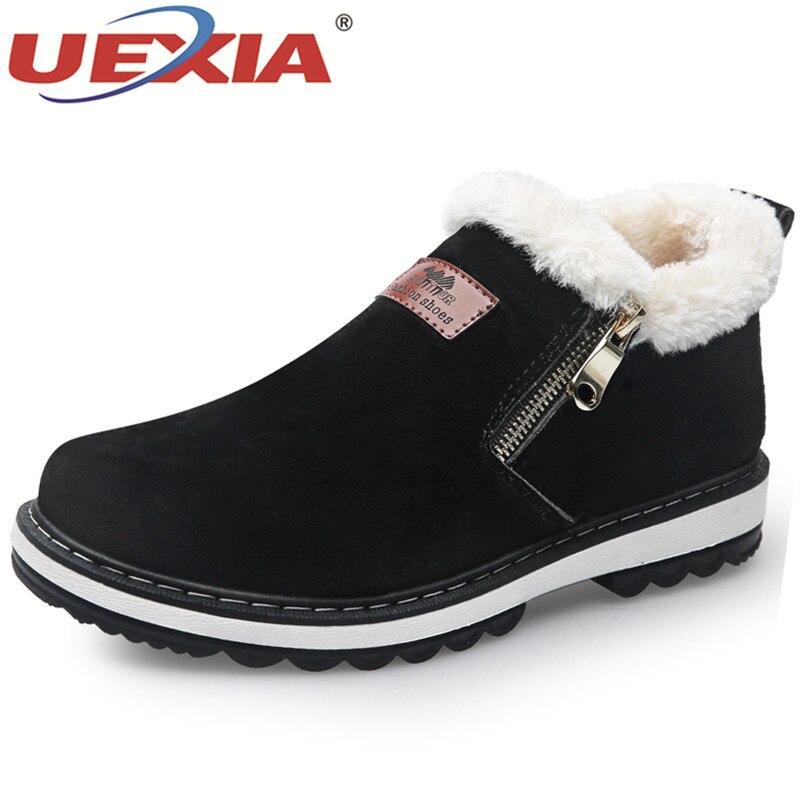 25c542cdc805b Skup Tanie UEXIA Snow Boots Buty Za Kostkę Mężczyzna Futerkiem ...