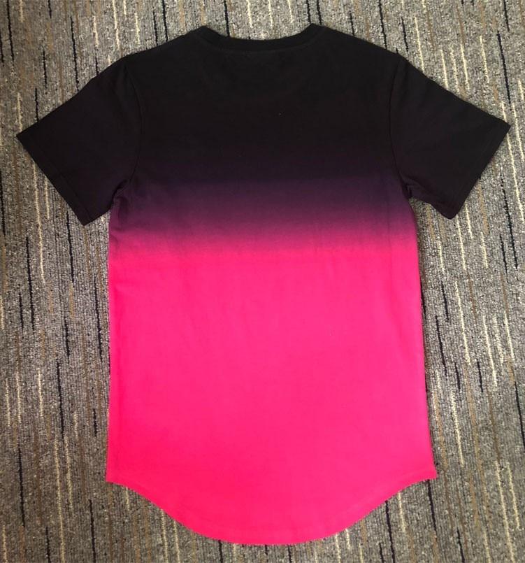 Image 3 - Men T Shirt Gradient siksilk Short Sleeve T shirt Men Summer New Man Basic Casual Tee Shirt Homme Hip Hop Streetwear Tshirt-in T-Shirts from Men's Clothing