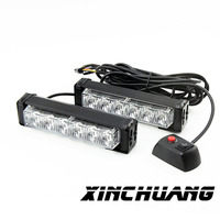 Car burst flashing lights warning lights exterior lights 12w ultra bright LED Bar lights car styling