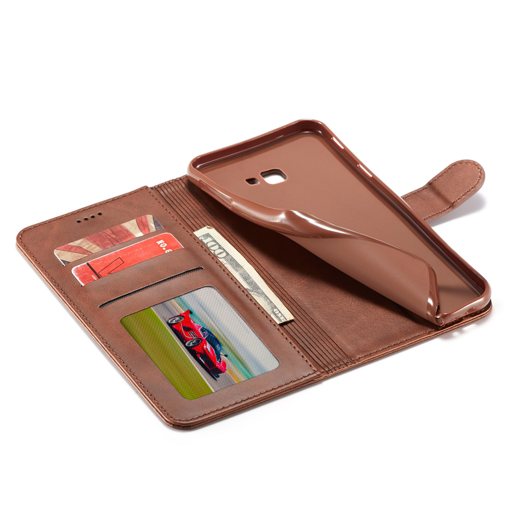 Wallet Cases Friendly For Samsung Galaxy A7 2018 Leather Case On For Samsung A7 2018 A750 Cover Classic Style Solid Color Flip Wallet Phone Case Coque
