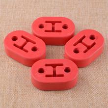 Beler Универсальный 4 шт. 11,5 мм 2 отверстия автомобильный резиновый полиуретановый Глушитель вешалка кронштейн красный аксессуар