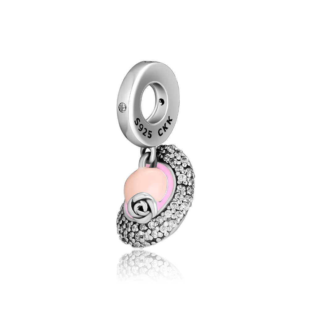 CKK Beads Beauty Lady Hat Silver Charm Sterling Fits Pandora Charms 925 Original Bracelet for Jewelry Making
