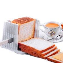 1 UNID Cortadora De Pan De Plástico de Cocina Para Hornear Panadería/pastelería Herramienta Cortador de Sándwich Tostado Rebanado Estante Molde
