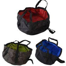 8 5L Outdoor Travel Folding Camping Washbasin Ultra light Portable Basin Bucket Bowl Sink Washing Bag