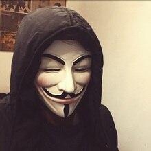 V для вендетты смолы маска Guy Fawkes аноним Косплей Хэллоуин маски 2 цвета белый/Бронзовый высокое качество