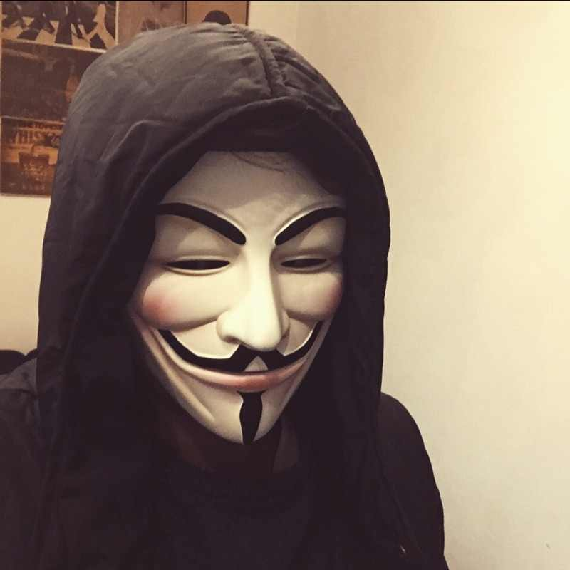 V for Vendetta Resin Mask Guy Fawkes Anonymous Cosplay Halloween Masks 2 Colors White/Bronze High Quality