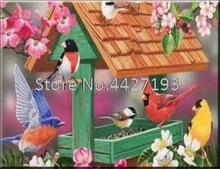 decor for christmas diamant painting accessoires bird house full rhinestones diamond cross stitch kits Mosaic