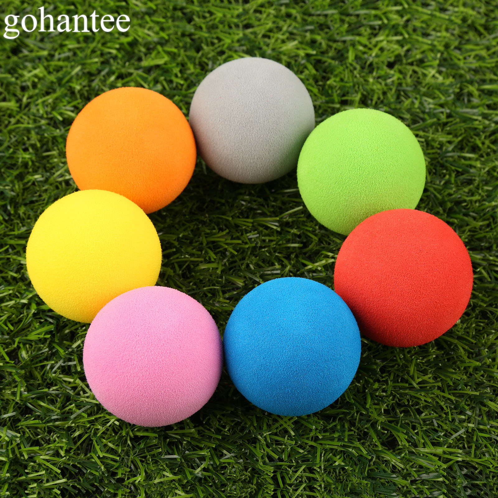 20pcs EVA Foam Golf Balls Soft Sponge Golf Monochrome Balls for Outdoor Golf Practice Balls for Golf/Tennis Training Solid Color caiton 12pcs pack three four five layer golf balls golf standard game balls