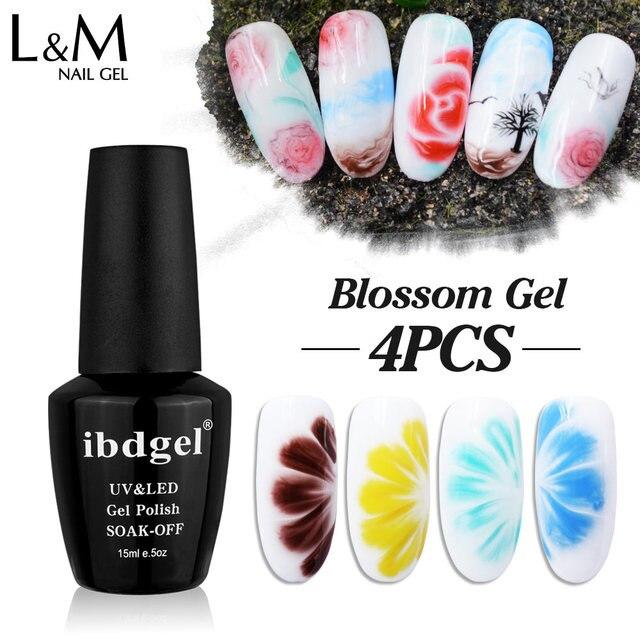 Ibdgel 4pcs Lot Hot Sales Gel Varnish Uv Color Nail Gel Polish