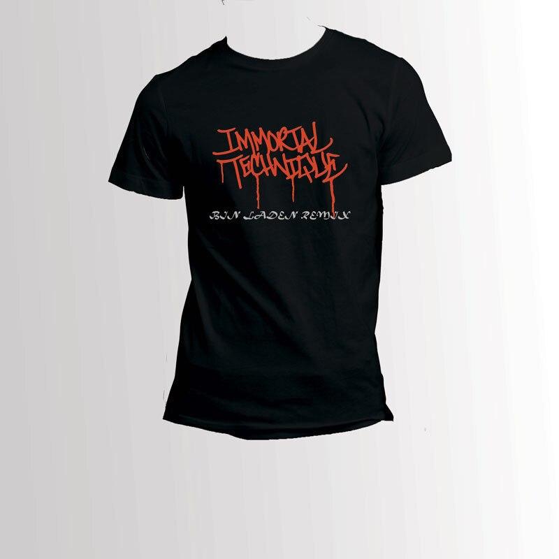 Бессмертный техника бен Ладена Remix черная футболка Для мужчин печатных круглый Для мужчин футболка Дешевые цены топы, футболки Новинка 2018 г...