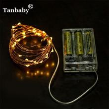 Tanbaby 2M 20LEDS AA סוללה מופעל LED מחרוזת אור IP65 Waterproof פיה קישוט פנימי / חיצוני לחג המולד, המפלגה, בר