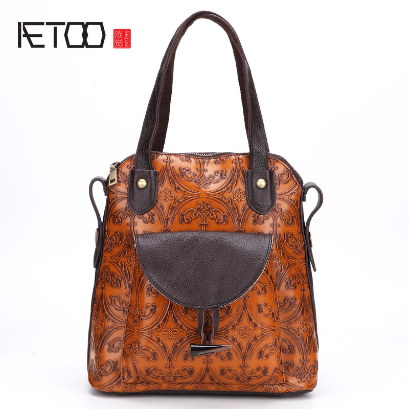AETOO New retro handmade wiping women fashion shoulder bag leather package handbag aetoo 2017 new 100