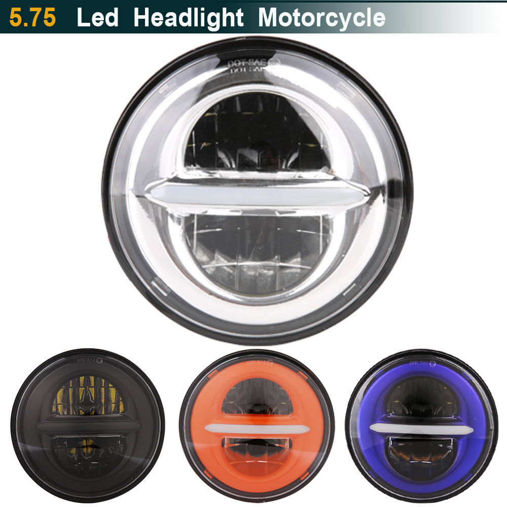 5.75 Inch LED Headlight For Harley Street 500 XG500 Iron 883 Low XL883 Dyna Sportsters V-Rod Night Rod FLSTSE 5 3/4 Headlamp футболка с полной запечаткой для девочек printio на отдых