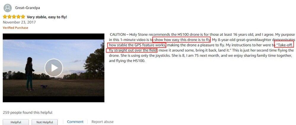 [EU USA JP Stock] Holy Stone HS100 GPS Selfie FPV Drone 500m Flight Range 2500mAh 1080P 7P Camera RC Quadcopter No Tax to EU 2