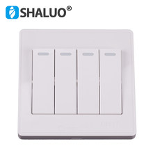 chint cheap 4 buttons light on off switch four open smart control molds house wall push switch board controller(China)