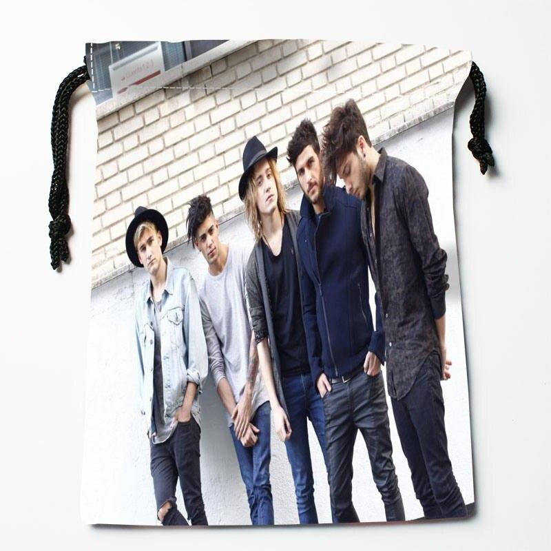 Custom Auryn Printed Satin Storage Bag Drawstring Gift Bags More Size Storage Custom Your Image 27x35cm