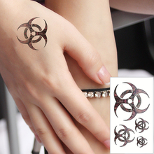M-theory Flying Round Flash Tatoos Hand Sticker 10.5x6cm Fake Temporary Tattoos Body Art Sticker Swimsuit Bikini Makeup