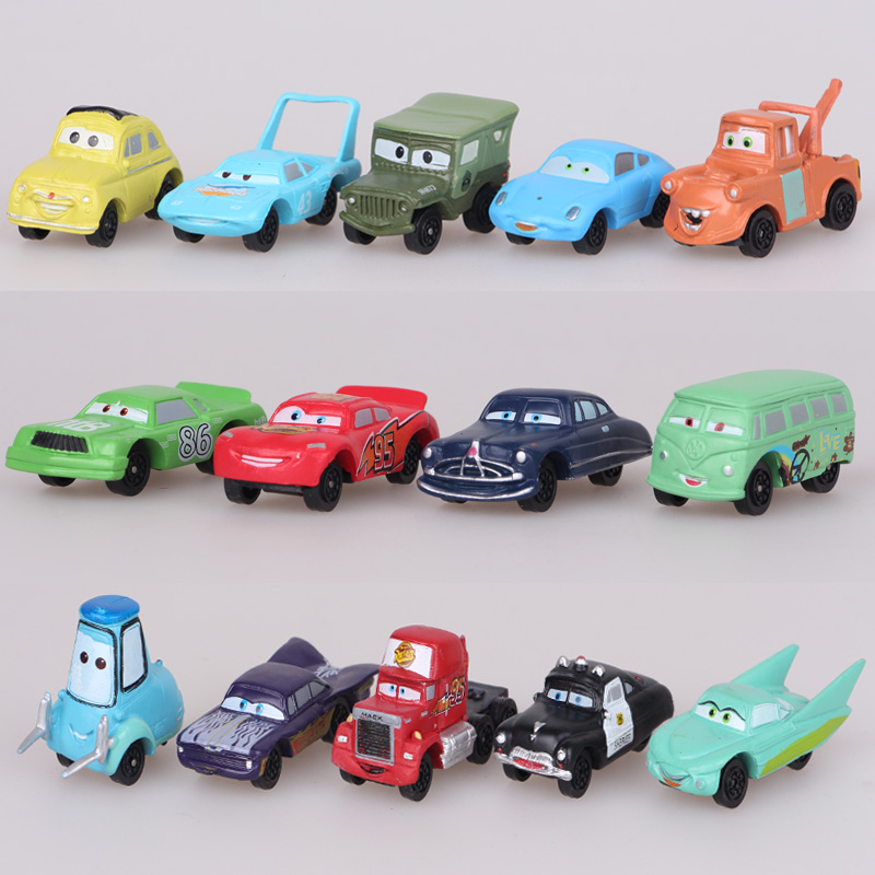 Disney Toys 3-5cm 14pcs/Set Pixar Cars Mini Action Figures Pvc Model Height Dolls Toys Classic Toys Lightning Mcqueen Disney Toys 3-5cm 14pcs/Set Pixar Cars Mini Action Figures Pvc Model Height Dolls Toys Classic Toys Lightning Mcqueen