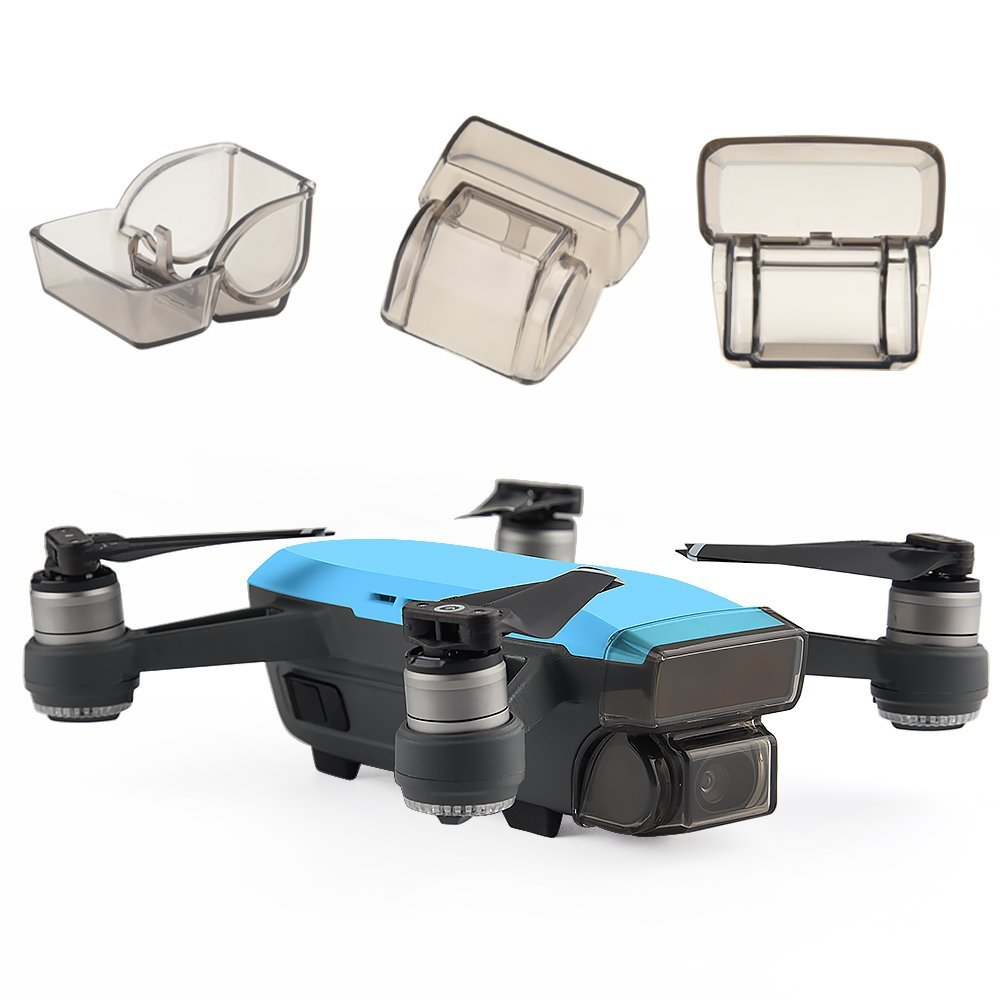 50pcs DJI Spark Gimbal Camera Guard Protector Lens Cover Cap Front 3D Sensor System Screen Cover Drone Accessory