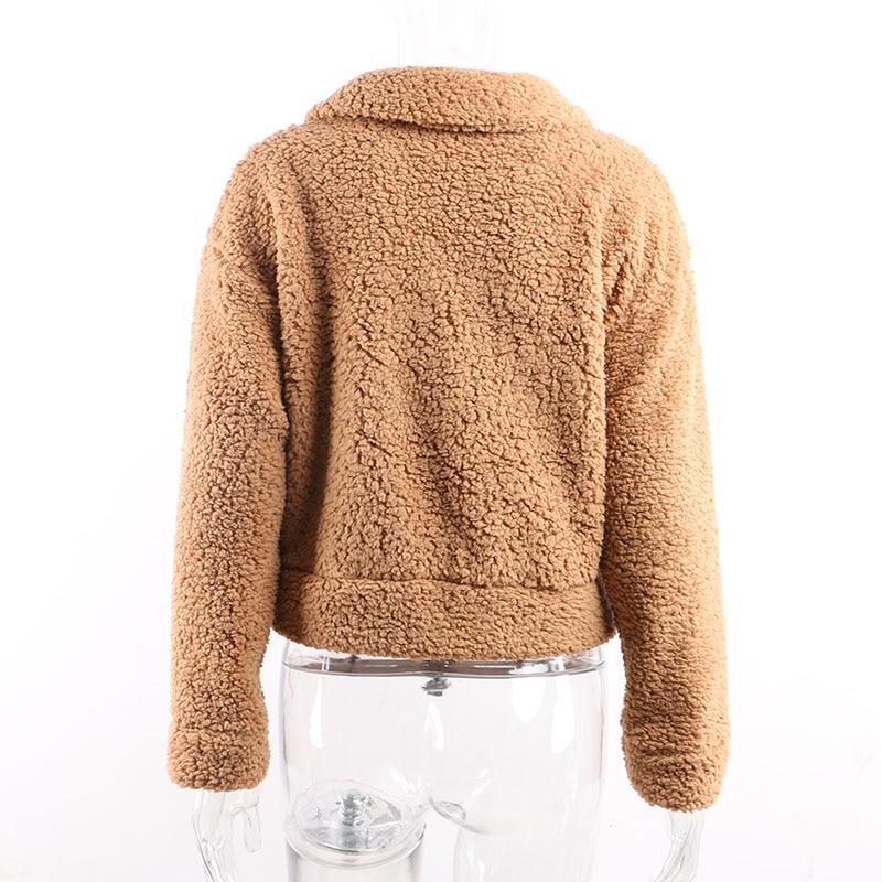 Teddy coat women19012