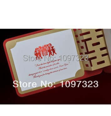 New 2015 Wedding Invitation Personalized Wedding Invitation Card Chinese Style Wedding Invitation 10pcs Lot Free Shipping