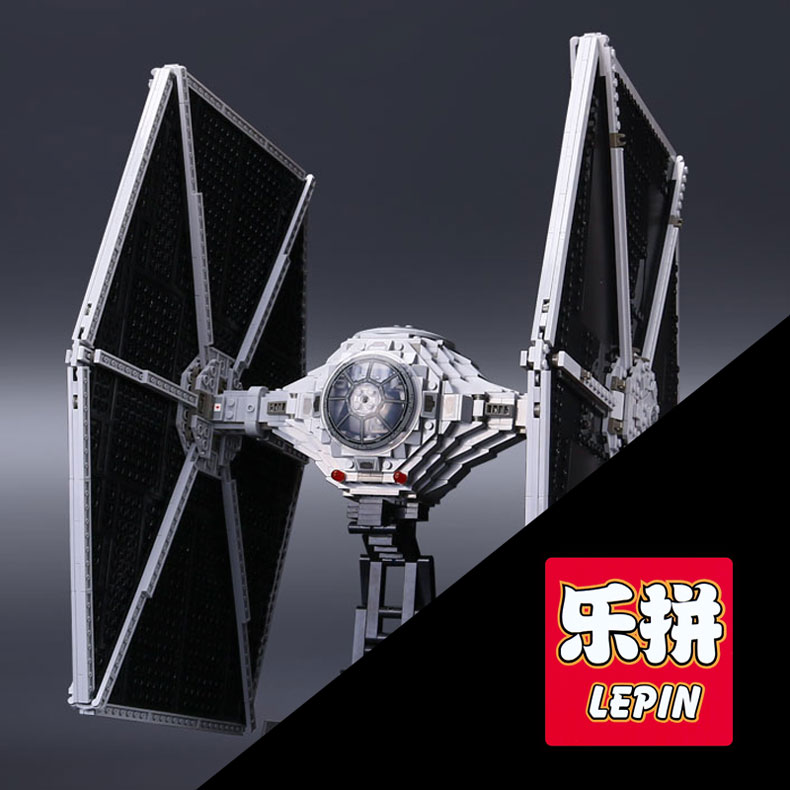 NEW Lepin 05036 1685pcs Star Series Tie set Fighter Building Educational Blocks Bricks Funny War Toys Compatible with 75095 gift dhl lepin 05055 star series military war the rogue one usc vader tie advanced fighter compatible 10175 building bricks block toy